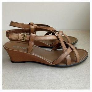Ecco Women EU 42 Brown Leather Strappy Sandals